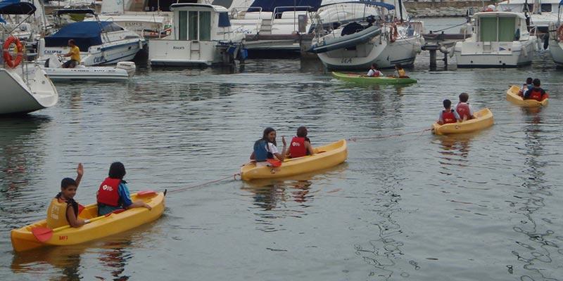 Caiac i esports de mar a Arenys de Mar i Calella de Mar