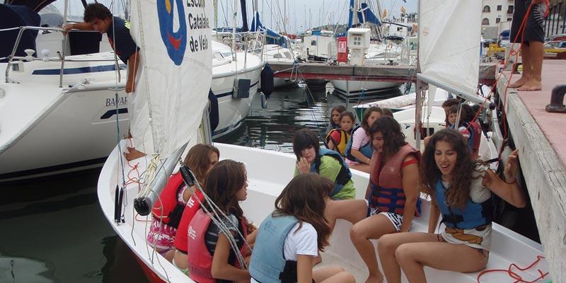 Vela i esports de mar a Arenys de Mar i Calella de Mar